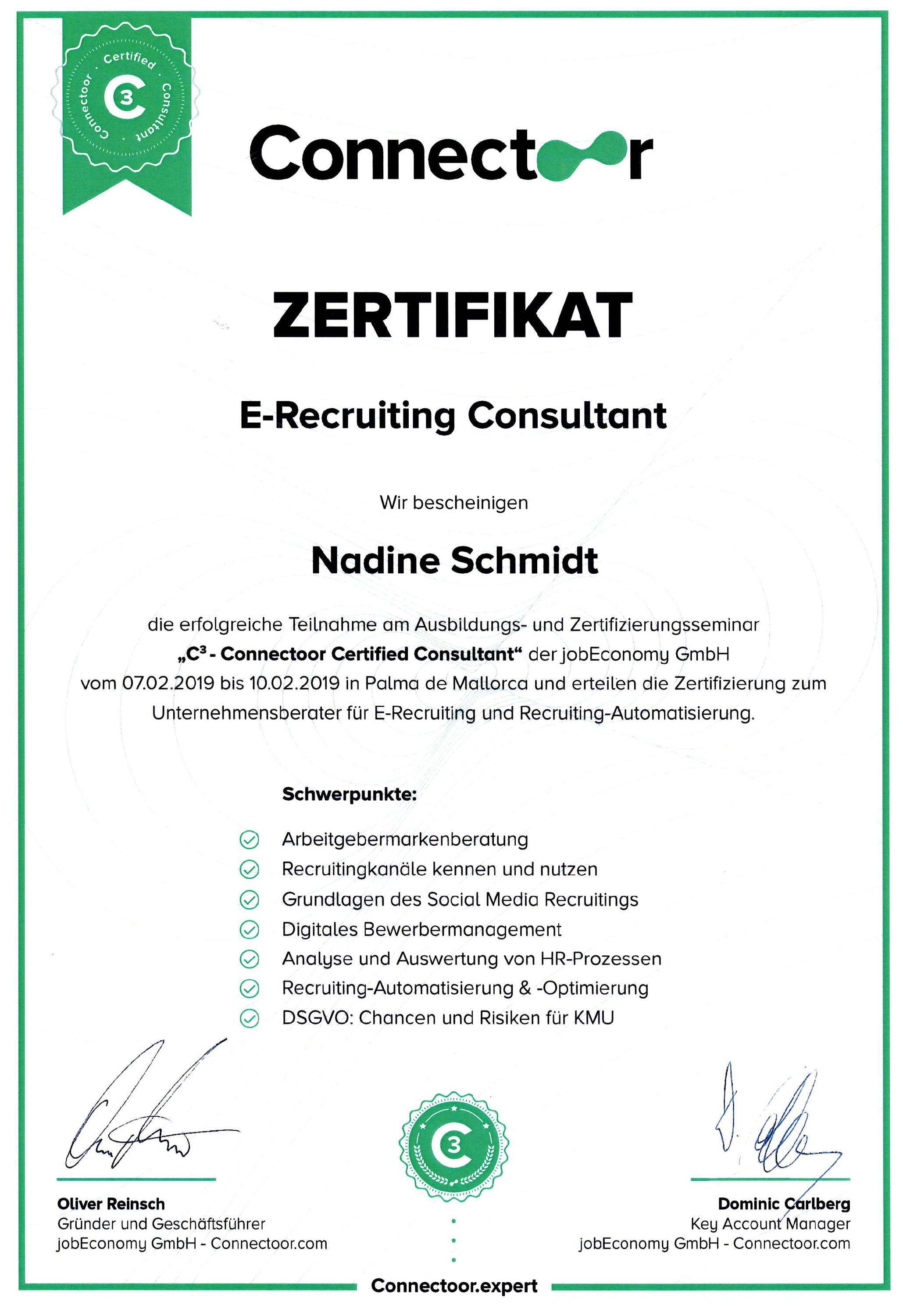 Connectoor-Zertifikat_Nadine-Schmidt
